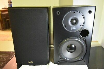 Polk Audio T15 Home Theater and Music Bookshelf Speakers Black AM1565-D #1785