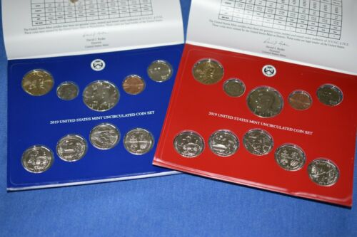2019 P D US MINT UNCIRCULATED 20 COIN SET NO W LINCOLN PENNY SEALED BOX SKU C76