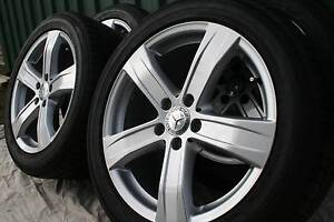"""Mercedes 18"""" Alloy Wheels with Tyres - genuine as new condition Coromandel Valley Morphett Vale Area Preview"""