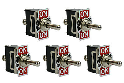 5 Pc 20a 125v Toggle Switch On-off-on Spdt 3 Terminal Momentary 1 Side