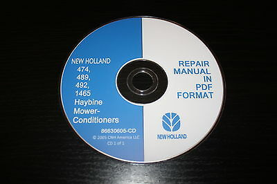 New Holland 474 489 492 1465 Haybine Mower-conditioner Service Repair Manual