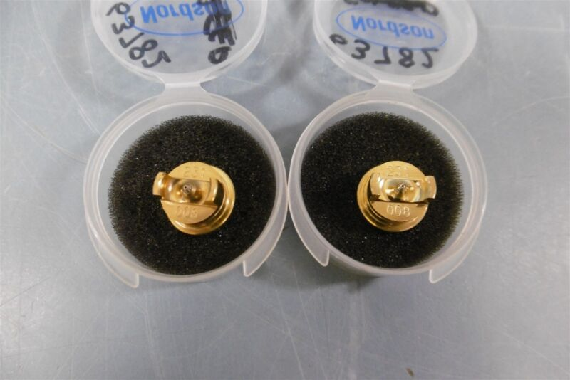 New Lot of 2 Nordson 231008 Single Orifice Button Nozzle