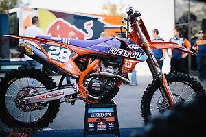 KTM SXF SX 125 -450 2016 Lucas oils motocross Team Graphics kit MX + Backgrounds