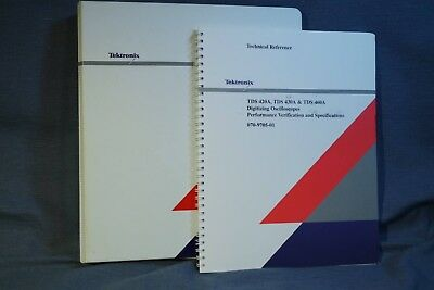 Tektronix Tds420a Tds430a Tds460a Tds510a Digitizing Oscilloscope 2 Manuals