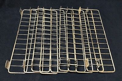 Lot Of 10 Metal Chrome Shelf Dividers For Gondola Wall Shelving - 13 X 3