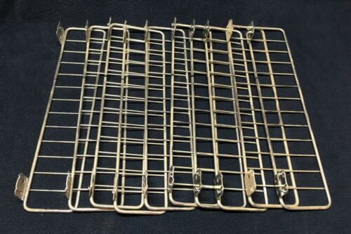 "LOT OF 10 METAL / CHROME SHELF DIVIDERS FOR GONDOLA & WALL SHELVING - 13"" X 3"""