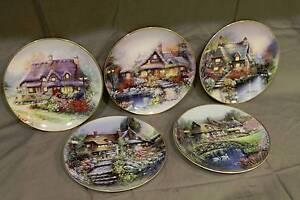 Franklin Mint Cottage plate set Upper Coomera Gold Coast North Preview