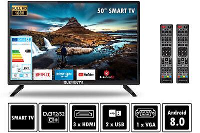 """Fernseher LED TV 24"""" 32"""" 40"""" 50"""" Zoll Full HD DVB-T2/S2 Smart-Option Elements"""