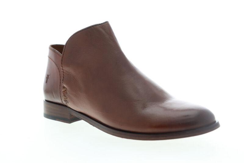 Frye Elyssa Shootie 70236 Womens Brown Leather Slip On Bootie Boots