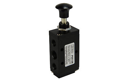 - NEW Hand Push Pull Pneumatic Air Control Valve 5 Port 4 Way 2 Position 1/4