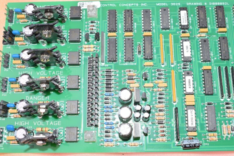 NEW Control Concepts Model 3629, Circuit Board, CPU Board