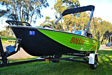 12 FT WESTONCRAFT TINNIE BOAT WITH 18HP TOHATSU ON A REG TRAILER. Bexley Rockdale Area Preview
