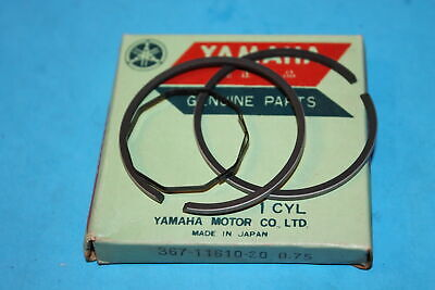 NOS 1976-1982 Yamaha GT80 LB80 MX80 1.00 OVERSIZE Piston Ring Set 367-11610-40