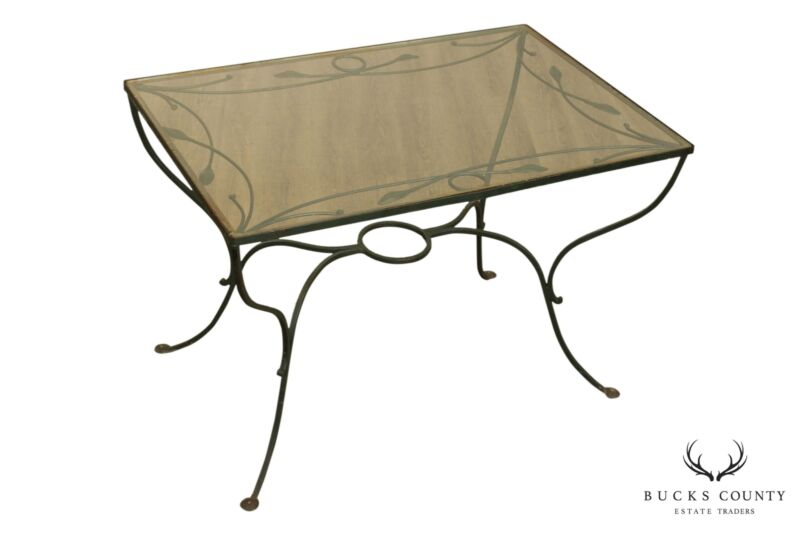 Salterini Wrought Iron Vintage Patio, Garden Dining Table