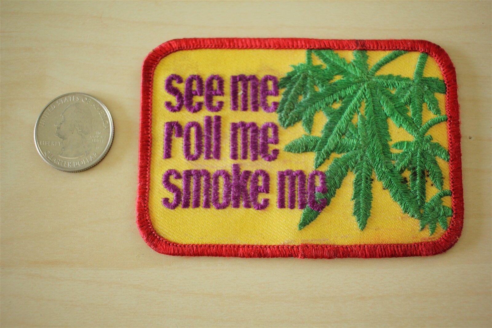"Pot Head Iron On Patch 3.5/"" x 2.5/"" Free Shipping Stoner Weed Marijuana P3640"