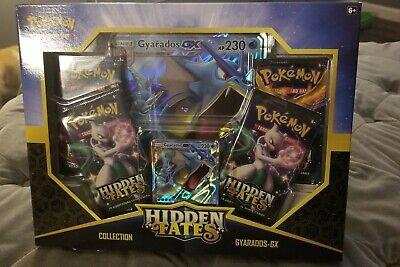 Pokemon Hidden Fates Collection Box Gyarados GX, Sealed 4 New Booster Packs