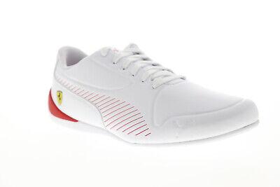 Puma Scuderia Ferrari Drift Cat 7S Ultra Mens White Low Top Racing Shoes