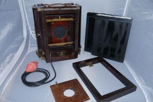 Eastman Kodak 2D 8x10 Wood Field Camera with Packard Shutter. and Extension Rail