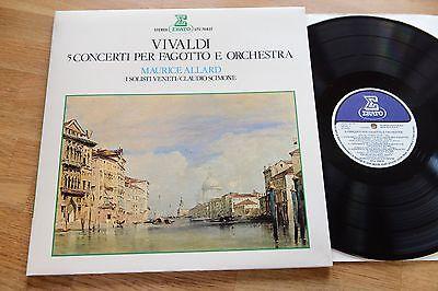 VIVALDI 5 Concerti Per Fagotto Solisti Veneti SCIMONE LP Erato STU 70837