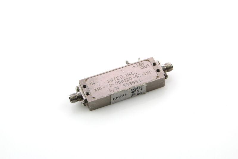 MITEQ AMPLIFIER AMF-6B-080120-50-18P 8-12GHz  33GAIN(dB)