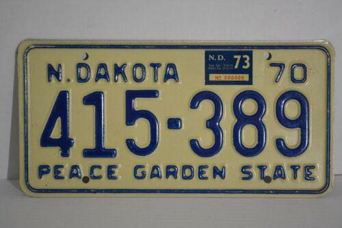 Vintage 1970 North Dakota License Plate 70 ND