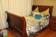 Queen bed with two bed side cupboards and a mirror table Ringwood East Maroondah Area Preview
