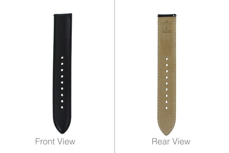 Genuine+Samsung+Gear+S2+Classic+Black+Large+Leather+Adjust+Strap+-+GH98-38405A