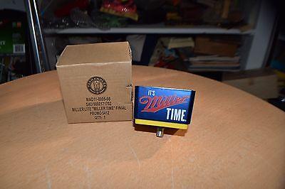 "Miller Light ""It's Miller Time"" Beer Tapper Topper Tap Handle Knob NEW IN BOX"