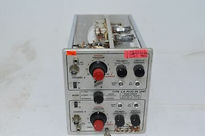 Tektronix Type-ca Plug In Unit Dual-trace Calibrated Preamp .05-20 Vcm Dc