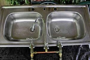 Heavy duty 2 bowl stainless sink Heathcote Sutherland Area Preview