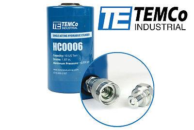 Temco Hc0006 - Hydraulic Cylinder Ram Single Acting 10 Ton 2 Inch Stroke