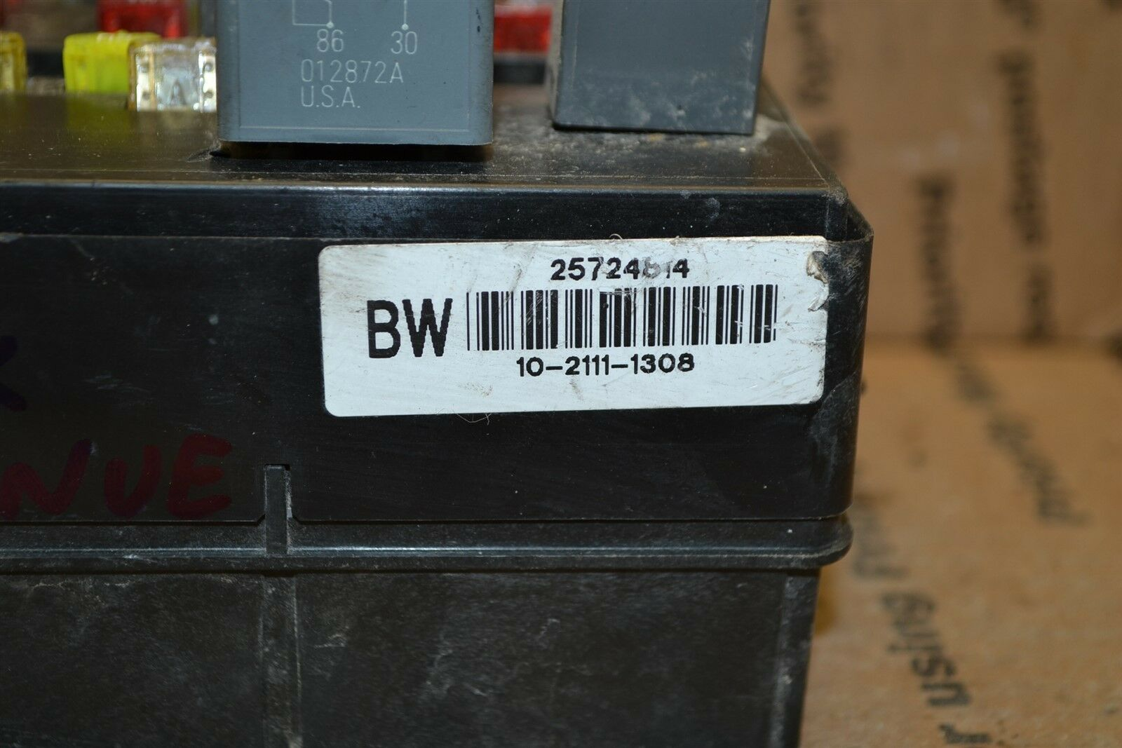 2003 Buick Park Avenue Fuse Box Junction OEM 25724814 Module 548-6A1