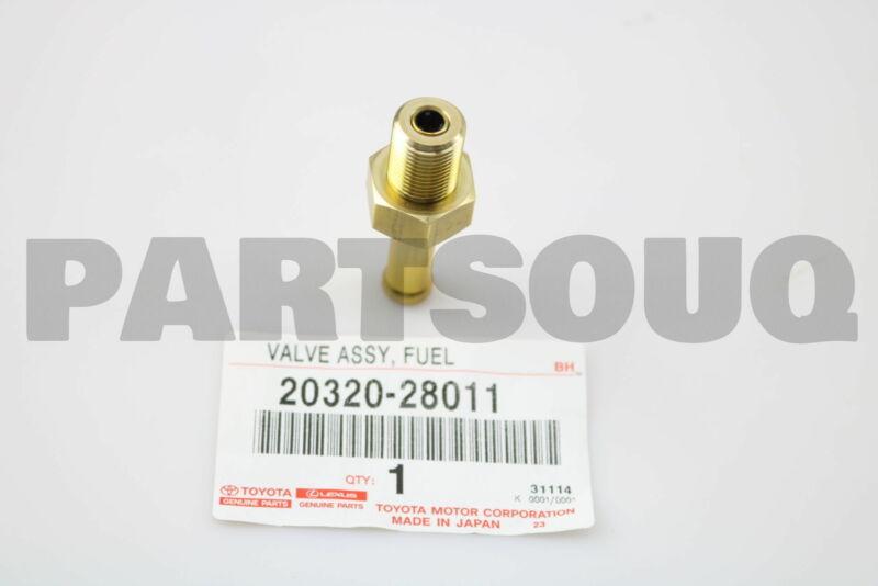 2032028011 Genuine Toyota Valve Assy, Fuel Relief 20320-28011