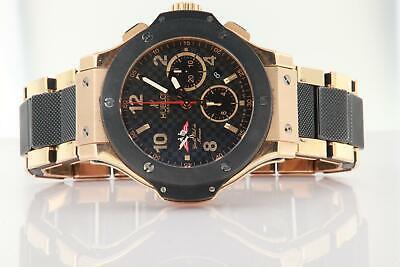 Hublot Club De Monaco Big Bang Yacht 18K Rose Gold & Ceramic Watch Limited Rare