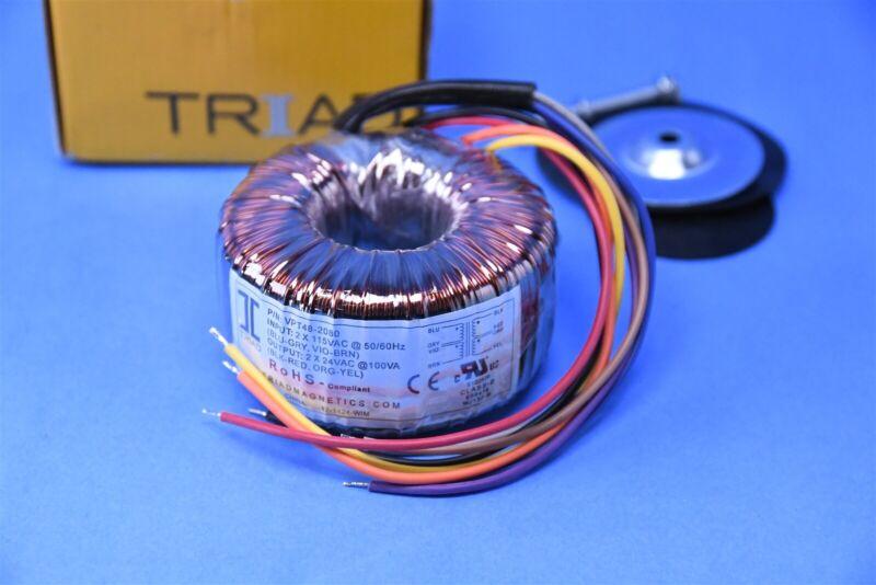 Triad Magnetics Toroidal Transformer Pri 2 x 115VAC Sec 2 x 24VAC @100VA 50/60Hz