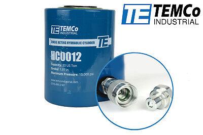 Temco Hc0012 - Hydraulic Cylinder Ram Single Acting 30 Ton 2 Inch Stroke
