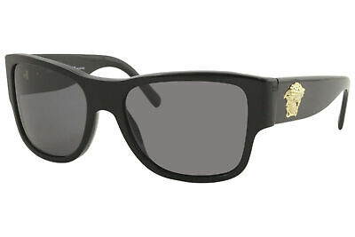 Versace VE4275 VE/4275 GB1/81 Black/Gold Medusa Logo Polarized Sunglasses 58mm
