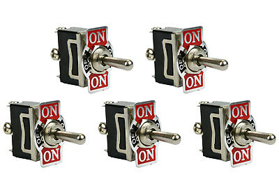 5 Pc 20a 125v Toggle Switch On-off-on Spdt 3 Terminal Momentary 2 Side