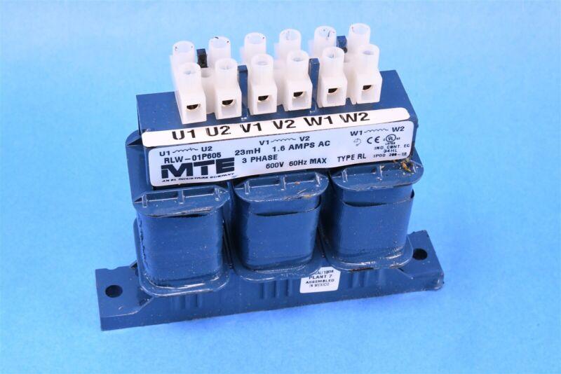 MTE Line Reactor RLW Series 1.6A 23.000mH 3Ph Open RLW-01P605