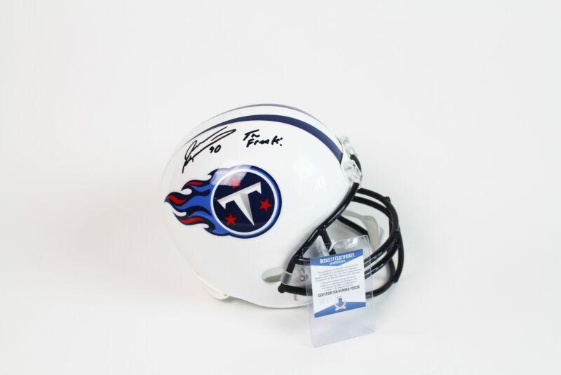 Jevon Kearse Autograph Tennessee Titans Full Size Replica Helmet Signed BAS COA