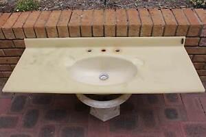 Bathroom Vanity Top only - basin, Aakronite pale green Ocean Reef Joondalup Area Preview