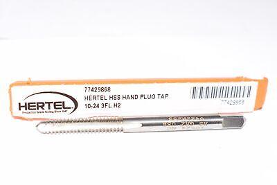 NEW Hertel 77429868 10-24 UNC, H2, 3 Flute, Bright Finish, High Speed Steel Stra 3 Flute Bright Finish