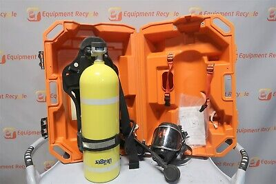 Drager Tc-3alm153 Luxfer Ps-3000 Compressed Gas Air Tank Mask Harness 2216 Psi