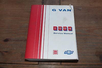 G Van Full Size 1994 Chevy GMC Shop Service Manual Savana Express NATP-9457