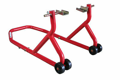 BikeTek Standard Series 3 Red Rear Stand Sport Bike Motorcycle Swing Arm -