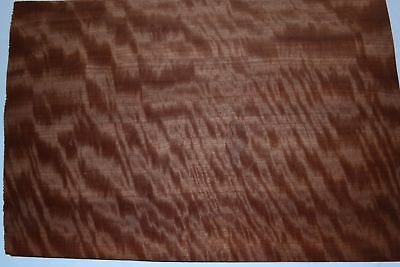 Makore Raw Wood Veneer Sheets 14 X 19 Inches 142nd Thick   4706-30
