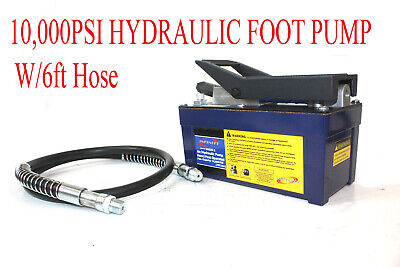 NEW 10000PSI Air Hydraulic Foot Operated Pump with 6FT  -
