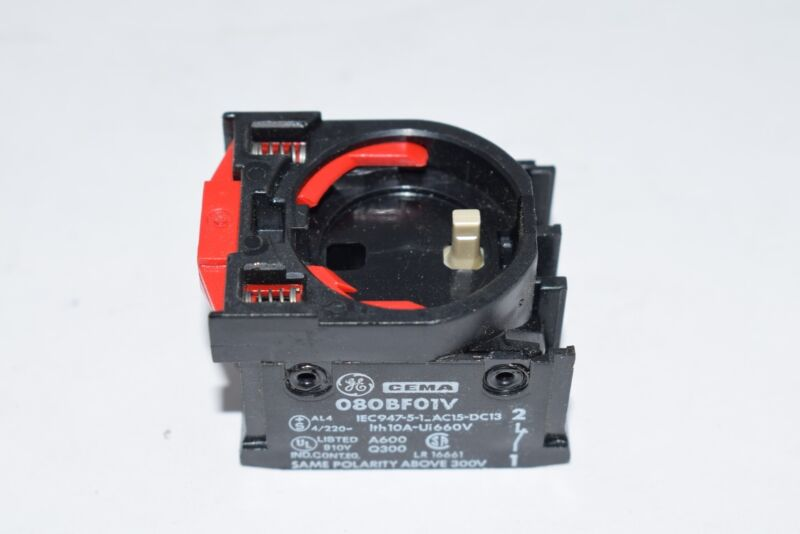 NEW General Electric GE 080BF01V Contact Block