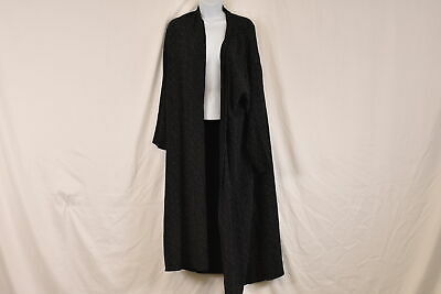 Women's Eileen Fisher Morse Code Long Kimono Jacket, Black, Large