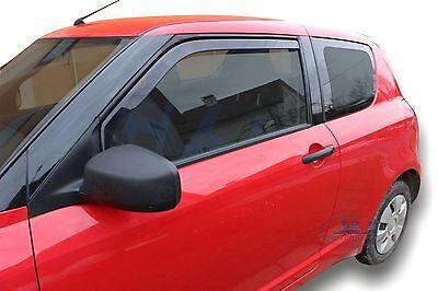 Suzuki Swift mk3 3Door  2005 -2010  Front wind deflectors 2pc TINTED HEKO BLACK
